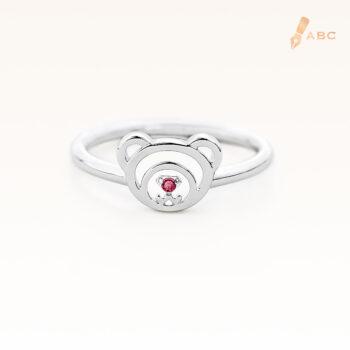 Silver January Birthstone Garnet Color CZ Beawelry Ring
