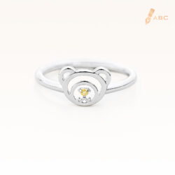 Silver November Birthstone Citrine Color CZ Beawelry Ring