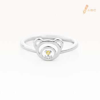 Silver November Birthstone Citrine Color CZ Beawelry Ring
