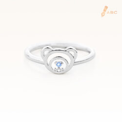 Silver December Birthstone Blue Topaz Color CZ Beawelry Ring