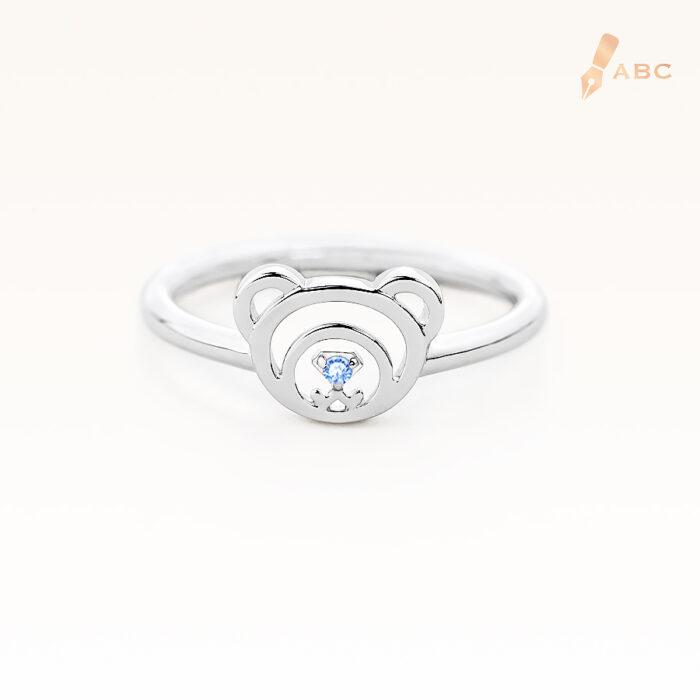 Silver December Birthstone Blue Topaz Color CZ Beawelry Ring