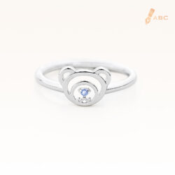 Silver September Birthstone Sapphire Color CZ Beawelry Ring