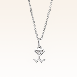 18K White Gold Diamond Beawelry Pendant
