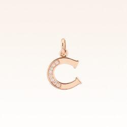 """18K Gold Alphabet Letter """"C"""" Charm"""