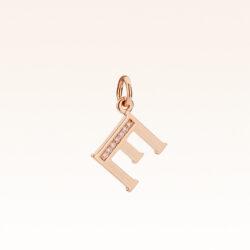 """18K Gold Alphabet Letter """"E"""" Charm"""