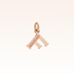 """18K Gold Alphabet Letter """"F"""" Charm"""
