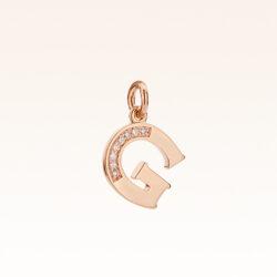 """18K Gold Alphabet Letter """"G"""" Charm"""