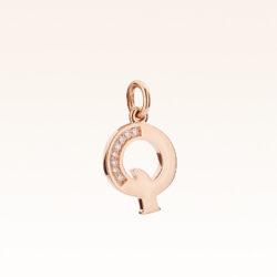 """18K Gold Alphabet Letter """"Q"""" Charm"""