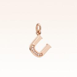 "18K Gold Alphabet Letter ""U"" Charm"