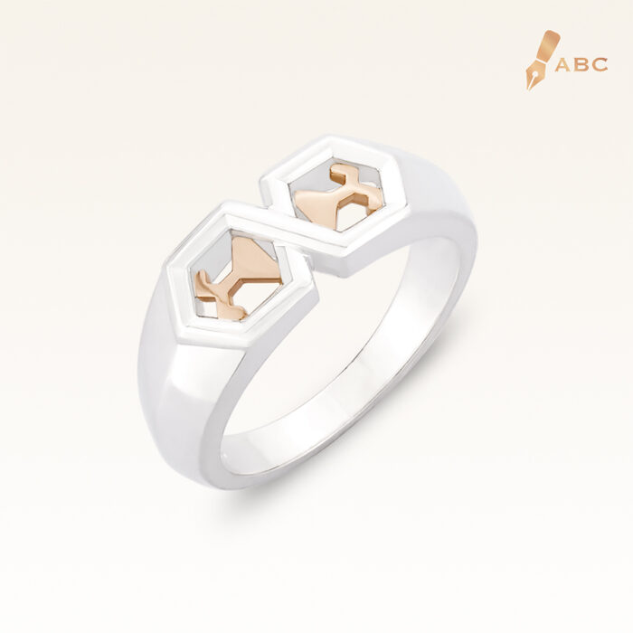 Silver & 14K Gold Beawelry Gent Ring